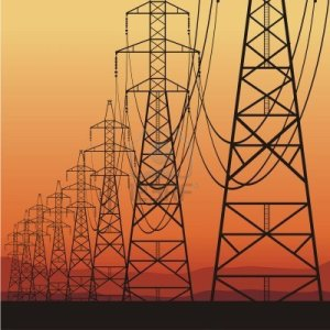 12120722-electric-power-lines-and-sunrise-vector-illustration