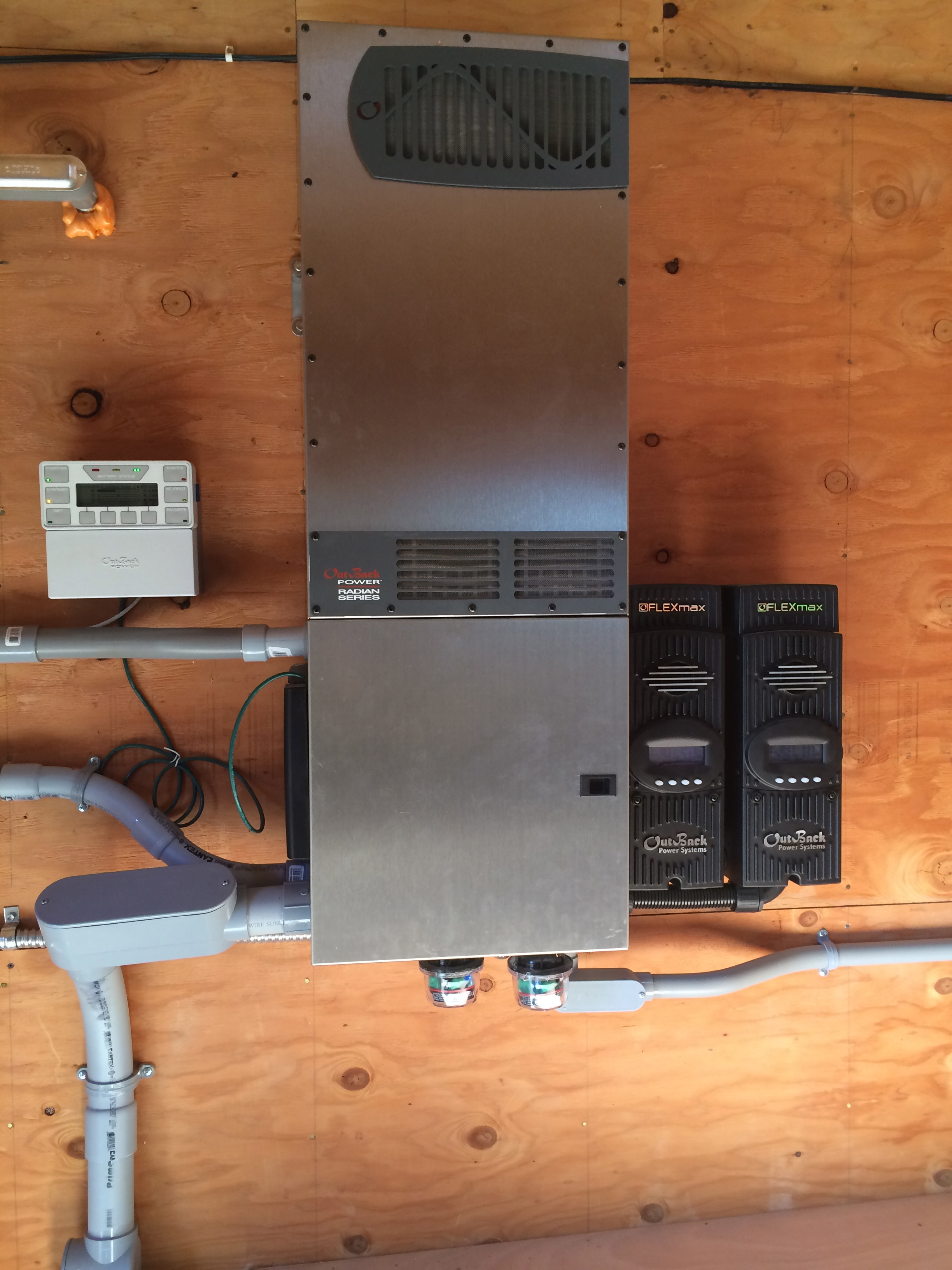 Off Grid Solar 101 Modern Offgrid Living 30kw System Wiring Diagram My Outback Radian With Dual Fm80s And Mate3